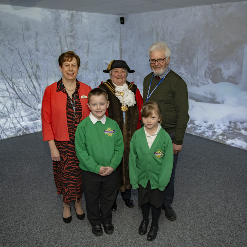 Immersive Classroom - Mayor of Cleethorpes at the Opening